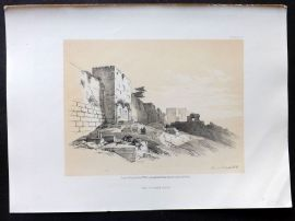 David Roberts Holy Land 4to 1856 Antique Print. The Golden Gate, Jerusalem